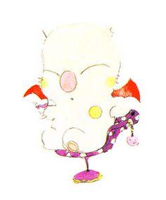 Yoshitaka Amano's Final Fantasy VI concept art / Moogle