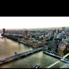 View from the London Eye - London, UK