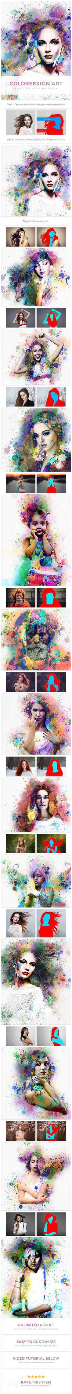 ColoreeXign #Art | PS Action - #Photo #Effects #Actions
