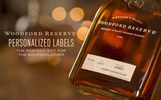 Free personalized labels from Woodford Reserve make for the perfect holiday gift for the bourbon lover on your list. Order by December to guarantee delivery in time for the holidays. Cool Gifts, Diy Gifts, Woodford Reserve, Bourbon Whiskey, Whisky, Perfume, Personalized Labels, Alcoholic Drinks, Cocktails