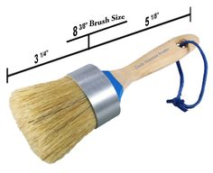 Chalk Mountain Brushes-LARGE MAXIMUM 2-in-1 Chalk Furniture Paint Boar Hair Brush. Great for Large Projects. Aluminum Ferrule to ensure NO Rusting, Easy to hang/clean with Blue leather rope. <b>Premium Quality 100% Natural Boar Hair Bristle Large 2 in 1 Brush.</b>. <b>Aluminum Band to insure no Rusting. Cleaning Instructions Provided.</b>. <b>Natural Wooden Handle in which we Design for your Maximum Comfort.</b>. <b>The large broad head provides superb coverage which will help finish your...