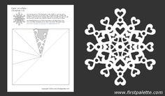 Twelve free printable snowflake templates to fold and cut into ...
