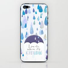 I Smile When It's Raining iPhone & iPod Skin by Noonday Design - $15.00