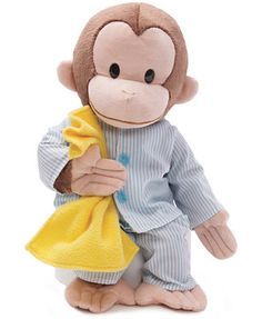 Stuffed Animals Crafts Gund Kids Toys, Curious George in Pajamas Toy - Soft and cuddly, this PJ dressed Curious George makes the perfect bedtime buddy. Curious George Party, Curious George Birthday, Curious George Stuffed Animal, Pet Toys, Kids Toys, Cute Stuffed Animals, Cuddling, Plush, Birthday Ideas