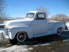 1950 chevy 3100 pickup :)....such a beautiful pickup. I actually have one, but my cab is stretched to make extended cab.