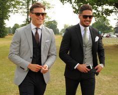 Duke of Essex Polo Grand Prix, Hyland House, Chelmsford, Essex, Britain - 13 Jul 2013 Charlie Sims and Mario Falcone 13 Jul 2013 Mario Falcone, Gents Hair Style, Celebrity Big Brother, Elegant Man, 3 Piece Suits, Business Outfits, Wedding Suits, Mens Suits, Sims