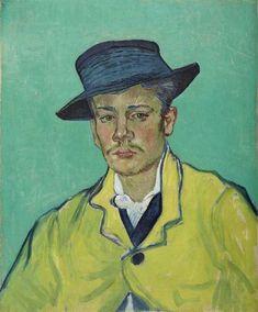 Van Gogh, ritratto di Armand Roulin, novembre-Dicembre 1888. Olio su tela, 65 x 54.1 cm. Museum Folkwang, Essen
