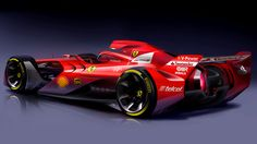 """Ferrari unveils """"aggressive-looking"""" Formula One concept car."""