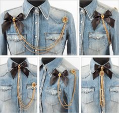 Diy chain connected brooches, great for steampunk, perhaps?