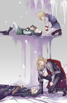 "This is the end by Bloody-Pidan.deviantart.com The author's note: ""Despite my love for Loki, I actually eagerly look forward to his death. His melancholy temperament calls for tragedy. Maybe some people are just not meant for happiness, and only death can end their sorrow."""