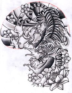 12Oct2011: Oriental inspired Tiger Half Sleeve Design by Chris Hatch Skunx, via Flickr