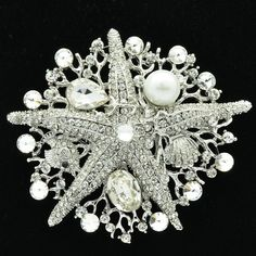 Sepjewelry Pearl Starfish Brooch Broach For Women'S Wedding Jewelry Accessories With Rhinestone Austrian Crystals Wholesale 6412 From Sepjewelry, $12.56 | Dhgate.Com