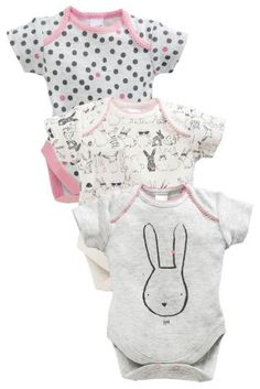 Buy 3 Pack Mono Bunny Bodysuits (0mths-2yrs) online today at Next: United States of America