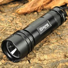 SIPIK SK51 3-Mode 250LM White Zoom Convex Lens LED Flashlight w/ Strap (1 x AA / 14500). Brand: SIPIK Model: SK51 Emitter Brand: Cree LED Type: XP-E BIN: R5 Color: White Number of Emitters: 1 Voltage Input: 0.8~4.2V Battery Configuration: 1 x AA / 1 x 14500 (not included) Circuitry: Digital Regulated 800mA Brightness: 250 lumens Runtime: 40 minutes Number of Modes: 3 Mode Arrangement: Hi > Mid > Strobe Mode Memory: No Switch Type: Reverse clicky Switch Location: Tailcap Lens: Plastic zoom…