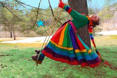 Dream Coat by Katwise -Upcycled Sweater TUTORIAL - Rainbow Gypsy Elf Coat from katwise on Etsy. Saved to my wardrobe wishlist. Pullover Upcycling, Sweater Coats, Sweaters, Winter Typ, How To Attract Customers, Coat Patterns, Sweater Making, Learn To Sew, Tutorial