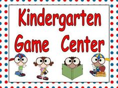 Just add dice, game pieces, and kindergarteners for learning fun!!   This packet includes everything else you need to get started with a game center in your kindergarten classroom!!  There are 8 different game-boards to use throughout the year.   There are also 55 PAGES of game cards that cover almost any kindergarten topic.  Topics include colors, shapes, letters, sounds, cvc words, sight words, color and number words, numbers to 100, bigger number, missing number, addition, and…