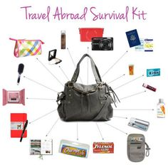 these little items are great to put in a large purse, whether you're going abroad or not