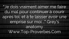 Grey's Anatomy, Bien Dit, Plus Belle Citation, Sentences, Plutot, Messages, Inspiration, Image, Cute Inspirational Quotes