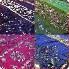 Moroccan Bedding Concept for Your Medieval Arabian Look Bedroom : Moroccan Bedding Beautiful Sequin Colorful Bed Cover Typical Embriodery