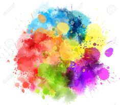 Multicolored watercolor splash blot Stock Vector - 56144229 Watercolour Tattoos, Watercolor Brushes, Watercolors, Pretty Pictures, Vector Art, Images, Clip Art, Wallpaper, Illustration