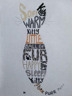 Soft Kitty cross stitch