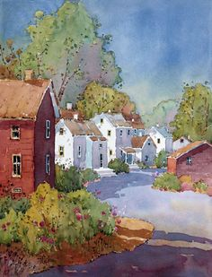 ۩۩ Painting the Town ۩۩ city, town, village & house art - Joyce Hicks