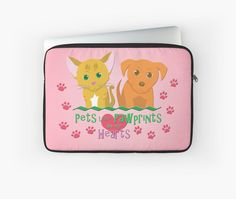 Pets Leave Pawprints Laptop Sleeve #cats #dogs #puppies #kittens #pets