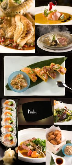 Nobu sushi menu- In LA, Miami & Vegas. Only one I need to try is NYC...