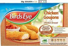 Birds eye goujons Slimming World Syn Values, Slimming World Syns, Chicken Bird, Snack Recipes, Snacks, Family Meals, Chips, Breast, Birds