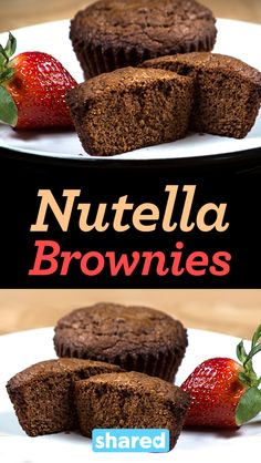 Uses self rising flour My Recipes, Cookie Recipes, Dessert Recipes, Nuttela Muffins, 3 Ingredient Nutella Brownies, My Favorite Food, Favorite Recipes, Decadent Food, Biscoff