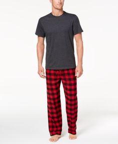 093a80b50a8bd Club Room Men s Buffalo Plaid Pajama Set