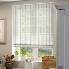 Pinar Voile Neutral Roman Blind%20from%20Blinds%202go