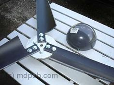 Hub and PVC vent cap as spinner