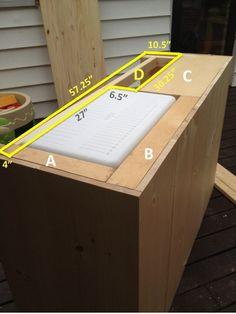 DIY Outdoor Bar with built in cooler Wood Cooler, Patio Cooler, Outdoor Cooler, Outdoor Patio Bar, Outdoor Kitchen Bars, Backyard Bar, Outdoor Kitchens, Pallet Cooler, Cooler Box