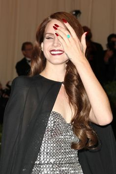 Lana Del Rey Oxblood #Nails #beauty