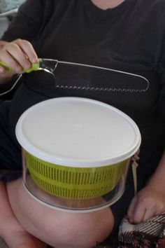 I've never been one to do a lot of salad, but I really do like this salad spinner and may continue to make salads a few times a week with it.     This item comes with a knife for lettuce as well which really comes in handy at my house since we do Tacos once a week. This spinner has a...