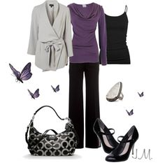 Drape neck tops are so fun and this purple is absolutely rich!