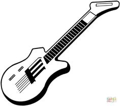 Guitar Coloring Pages 10