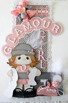 ELITE4U Vertical Border Glamour Girl Scrapbook Album Pre Made DANDERSON651 | eBay