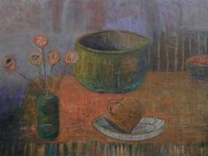 "Saatchi Art Artist Filip Szczuko; Painting, ""Still Life with Metal Cup"" #art"