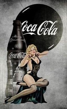 Vintage Tattoo Photos Pin Up 27 Ideas For 2019 Coca Cola Poster, Coca Cola Ad, Always Coca Cola, World Of Coca Cola, Vintage Advertisements, Vintage Ads, Coca Cola Vintage, Arte Black, Mona Lisa Parody