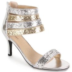 311175130d Strappy Shine Sandal by EY Boutique Womens Clearance