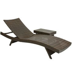 Have to have it. Wicker Multi-brown Outdoor Adjustable Lounges and Table - $798.99 @hayneedle
