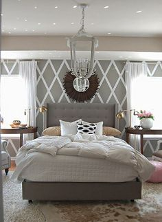 Neutral colors like the ones used in this decor are known to promote relaxation.  What color scheme would you choose if you could makeover your bedroom?