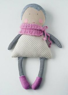 Stunningly original handmade doll. She is soft, cute and activities with her develop childrens creativity and imagination, perfect for story telling time. This doll can add a feature to your home decor, nursery or childs room. Perfect for baby's first doll, it is classic baby doll that