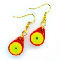 Red Ringa Buy now at low price http://www.ramanamam.com/ohooshopping/fashion-earrings-/Fashion-Paper-earrings-Jewelry,-Quilling-paper-designs