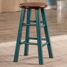 With a charming look, this Winsome Ivy counter stool completes your kitchen decor. Painted Bar Stools, Rustic Bar Stools, Wood Counter Stools, 24 Bar Stools, Wooden Stools, Bar Chairs, Dining Chairs, Office Chairs, Room Chairs