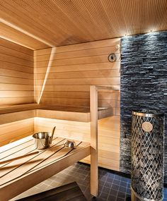 kylpyhuone Sauna Design, Saunas, New Homes, Spa, Cabin, Sauna Ideas, Furniture, Bathrooms, Decorating Ideas