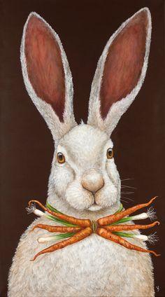 Vicki Sawyer - Animal art ideas fit perfectly into whimsical nursery and woodland toddler rooms<br> Whimsical Nursery, Whimsical Art, Woodland Nursery, Lapin Art, Art Fantaisiste, Illustration Art, Illustrations, Art Populaire, Rabbit Art