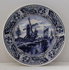 Original Vintage De Kruik Delftware Plate  @ R200  Diameter 170  Call : 0767064700  www.furnicape.co.za